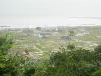 石巻市日和山から見た門脇地区(20011/9/2撮影)