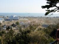 石巻市日和山から見た門脇地区(2013/4/25撮影)