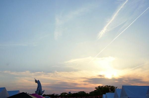最後の夕焼け空