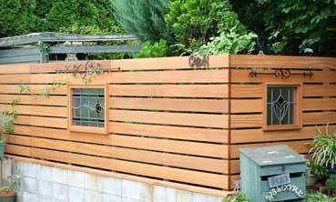 完成した天然木フェンス イメージ