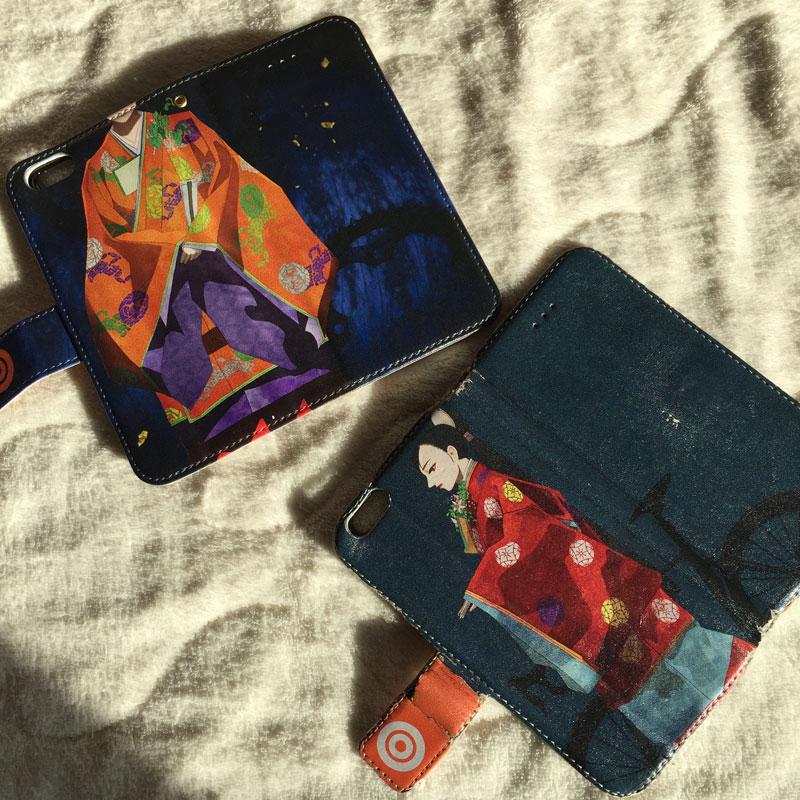 平安装束の女性iphoneケース