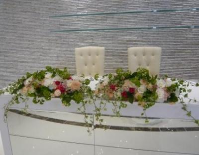 メインテーブル装花!�