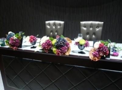 メインテーブル装花です!�