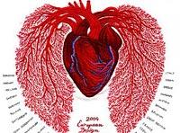 刺繍で心臓