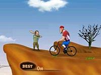 バットで自転車