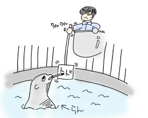 室蘭水族館05ランイラスト