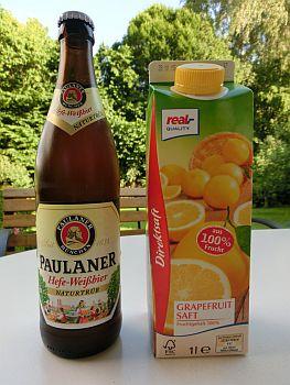 ビールのグレープフルーツ割り