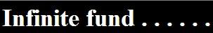 infinite fund
