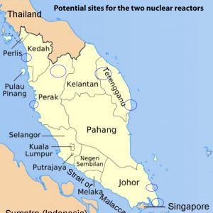 マレーシアの原発候補地