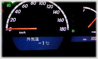 寒波, 外気温