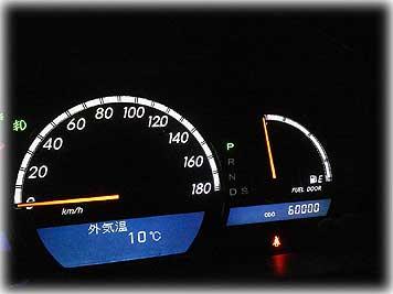 走行距離60,000km