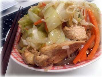 野菜炒めラーメン特盛り