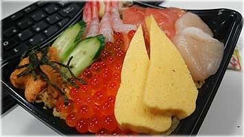 寿司職人のちらし寿司