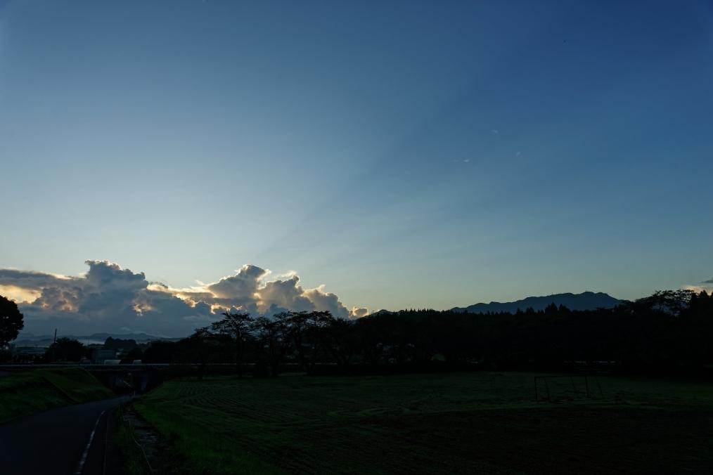 三重町の早朝