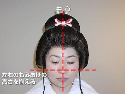 全かつらの被せ方(5)