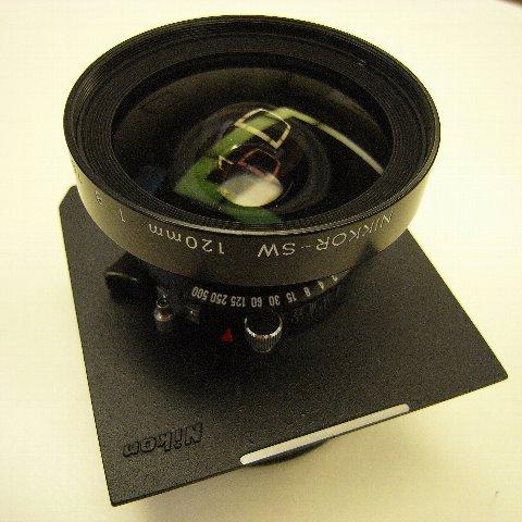 ニコンSW120mm 8×10用の広角