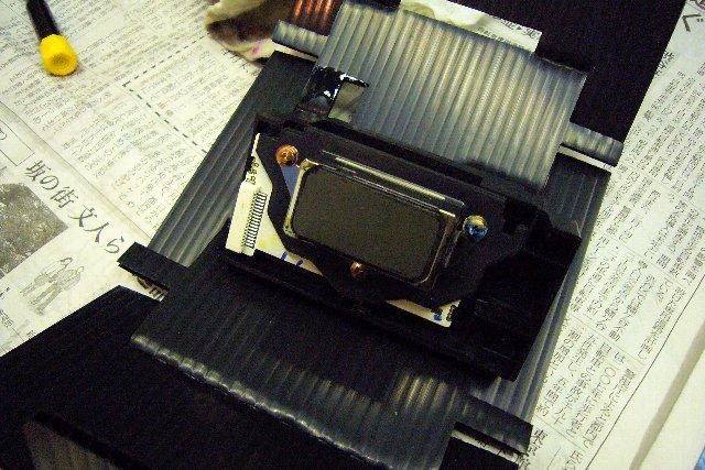 PX-9000の心臓部 ノズルヘッド