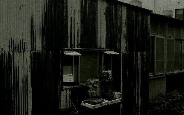 トタン葺の家
