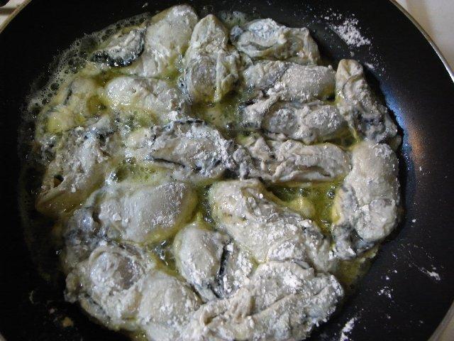 牡蠣+オリーブ油+バター