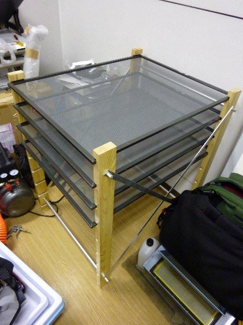 乾燥網の棚作り