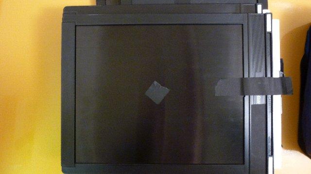 Shurtapeで露光済みの印とストッパー
