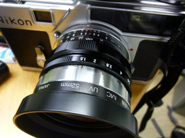 S NOKTON 50mm F1.5とNIKON SP