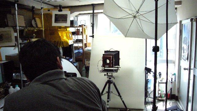 写真展のDM撮影