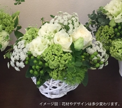 イメージ図:花材やデザインは多少変わります。