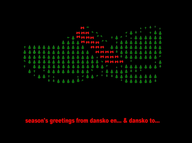 seasons greetings from dansko en... & dansko to...