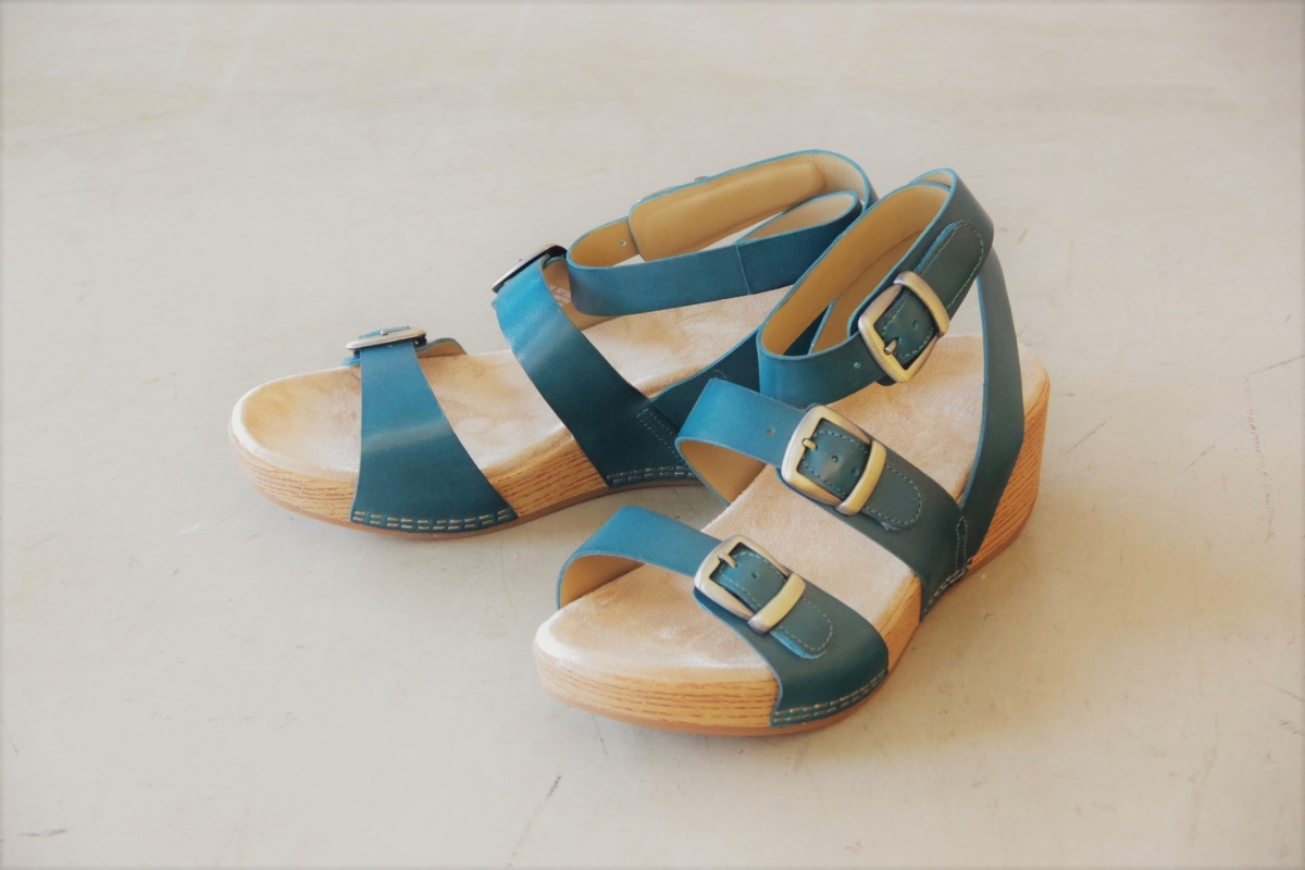 Lou Turquoise Burnished Calf