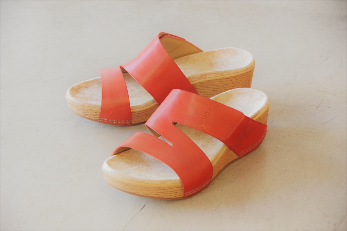 Lacee Coral Burnished Calf