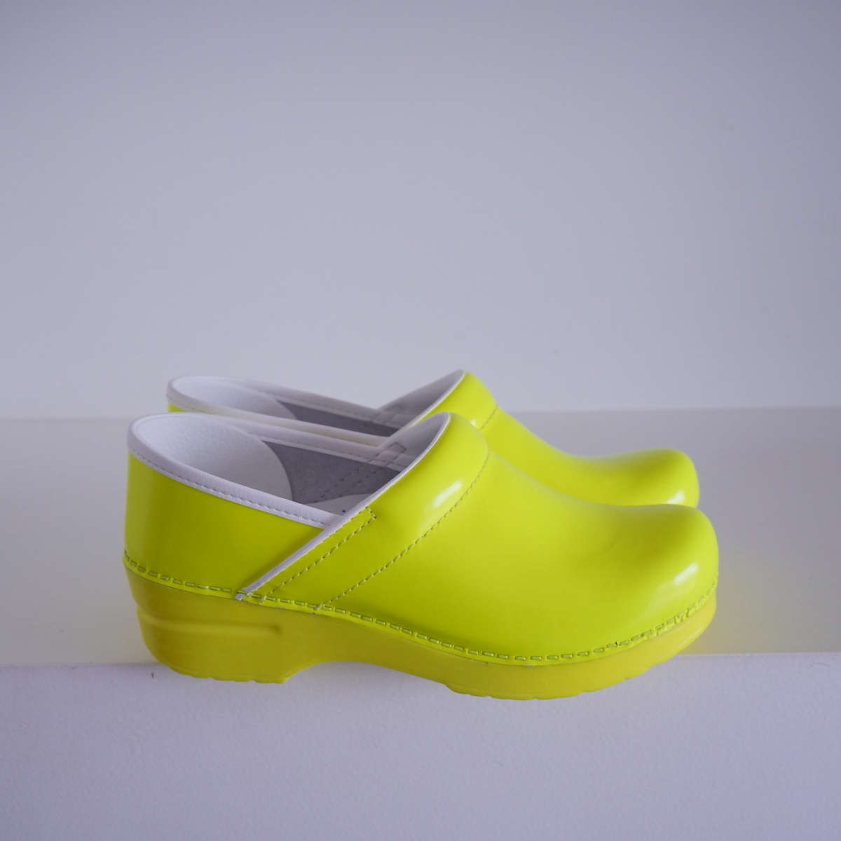 Professional Yellow Neon Leather