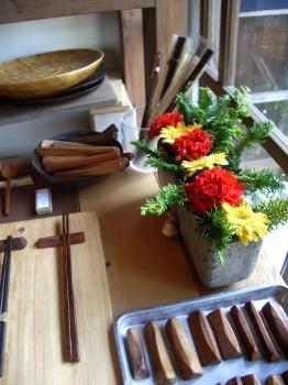 ユリイカ 木の箸置き クリスマス