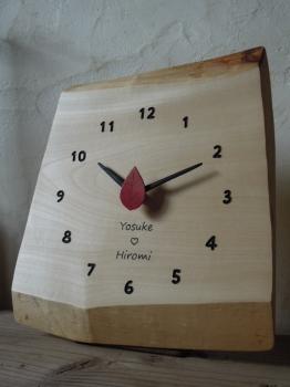 名入れ ギフト 木の時計