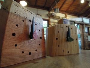 木の置時計 ギフト 贈り物 名彫り