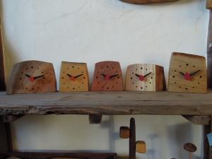 木の置時計 快気祝い 名入れ