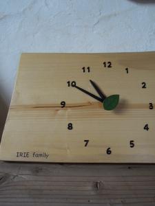 木の掛け時計 名入れ