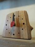 木の置時計 名彫り