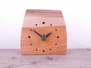 置時計 木の時計 引き出物 贈り物 さん連時計