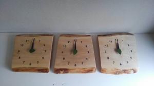 三連時計 木の暮らし ユリイカ