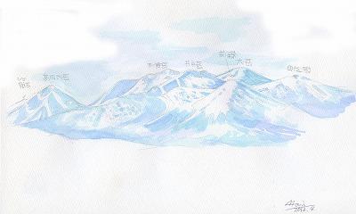 八甲田山のイラスト