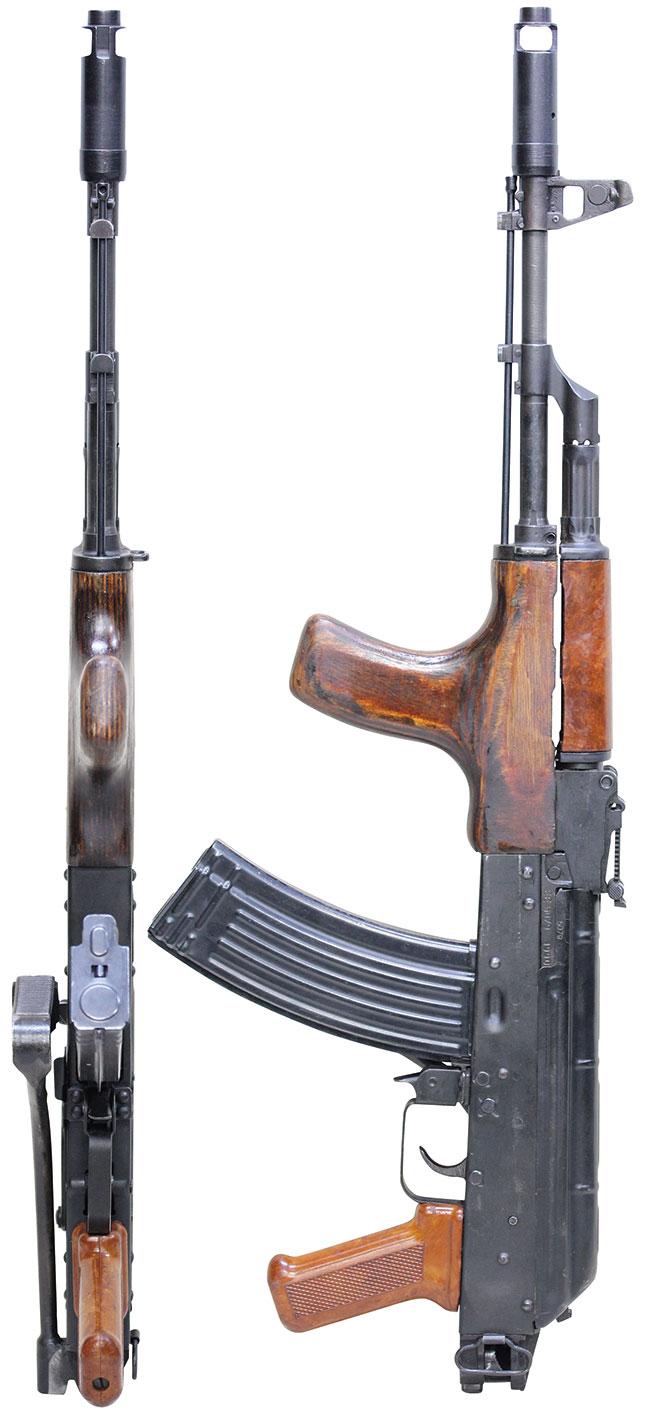【5072】ルーマニア-AKS-74-自動小銃-(複数在庫品、#EE5079)左ストック畳.jpg