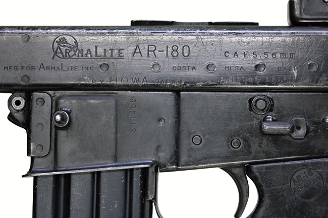 【5910】アーマライト-AR180-自動小銃-(豊和工業製、#S11466)刻印全体.jpg