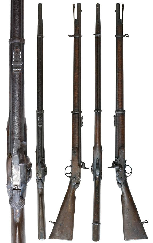 【5985】ウィルソン-2-バンド-後装式小銃-(銃砲刀剣類登録証付古式銃、#無)左.jpg