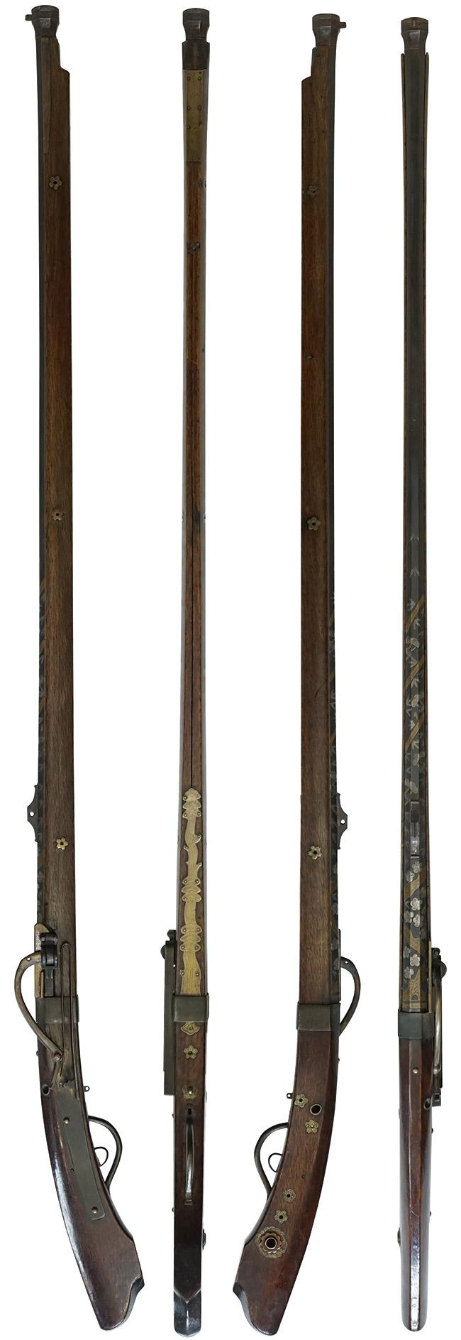 【6320】火縄銃-細筒-(銃砲刀剣類登録証付古式銃、在銘廣島-大下林助作)上.jpg