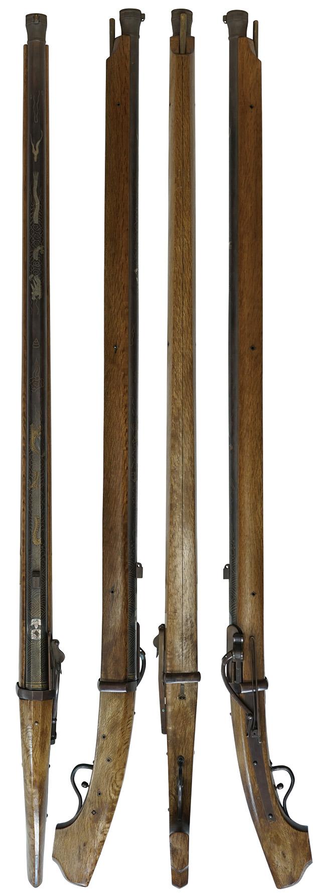 【6323】火縄銃-三匁筒-(銃砲刀剣類登録証付古式銃、無銘)右.jpg