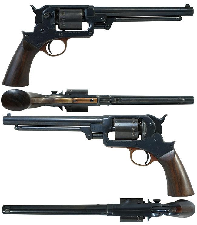 【6388】スタール-M1863-アーミー-シングル・アクション・リボルバー-(銃砲刀剣類登録証付古式銃、#49371)右.jpg