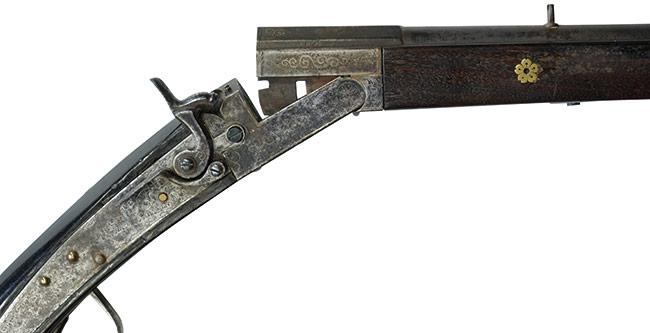 【6389】和製火縄銃型28番散弾銃-(無可動古式銃、#無)中折.jpg