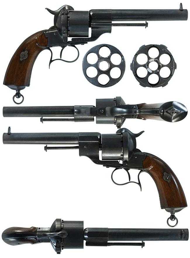 【6431】ルフォーショー-M1854-6連発-官給品-リボルバー-(銃砲刀剣類登録証付古式銃、#64022)右.jpg