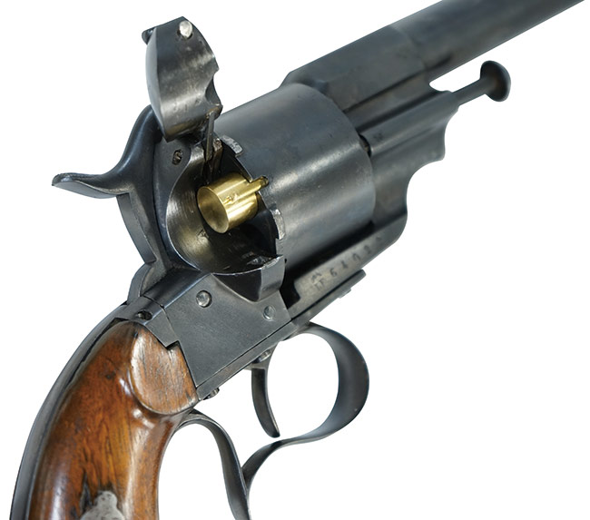 【6431】ルフォーショー-M1854-6連発-官給品-リボルバー-(銃砲刀剣類登録証付古式銃、#64022)開け.jpg